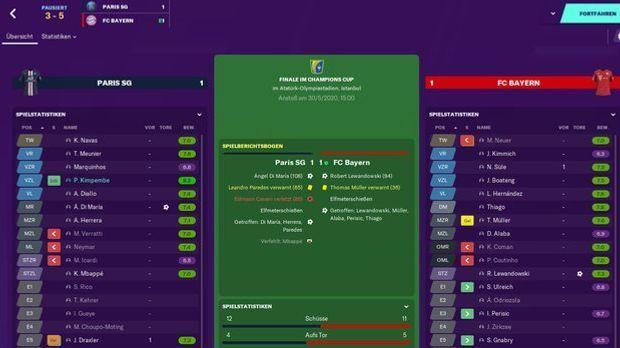 Football Manager Screenshot finale