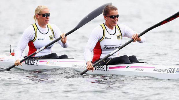 Franziska Weber und Tina Dietze (Kanu/Silber) - Bildquelle: 2016 Getty Images