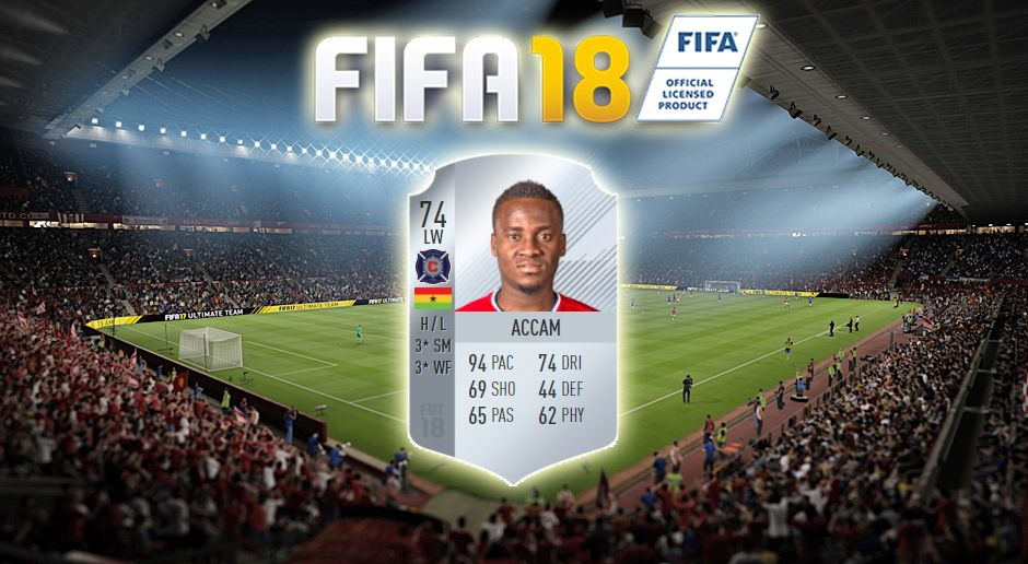 Platz 9: David Accam (Chicago Fire) - Bildquelle: EA Sports