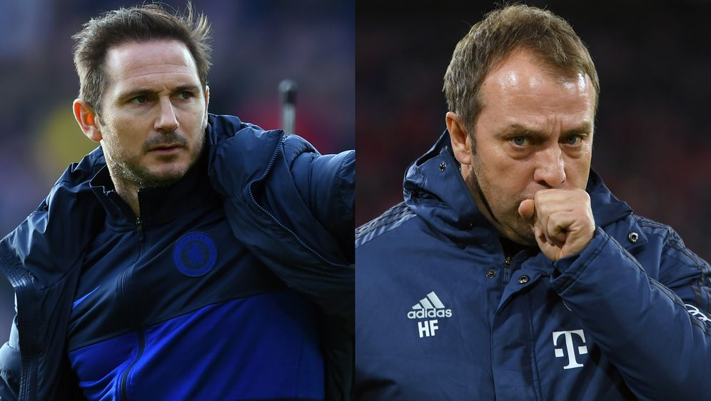 Beim Duell zwischen Chelsea und Bayern stehen die Trainer Frank Lampard (li.... - Bildquelle: Getty Images