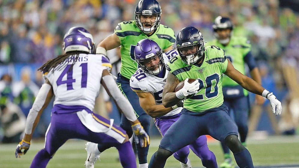Sorgte für zwei Seahawks-Touchdowns: Running BackRashaad Penny. - Bildquelle: Getty