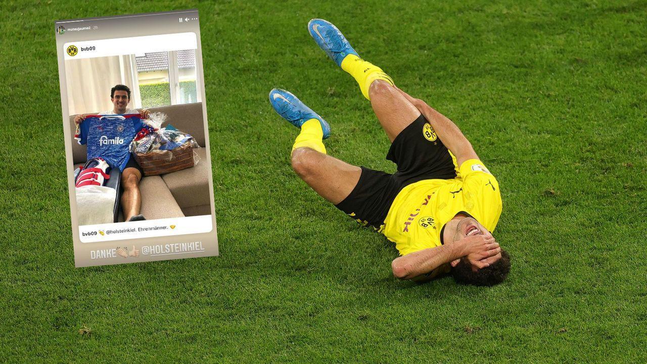 Nach schwerer Verletzung: Holstein Kiel sendet Care-Paket an BVB-Verteidiger Mateu Morey - Bildquelle: Getty Images/Instagram @mateujaume2
