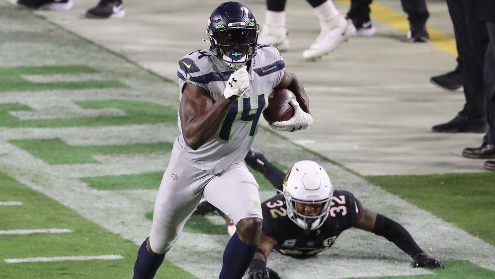 D.K. Metcalf zählt zu den schnellsten Spielern der NFL. - Bildquelle: Getty