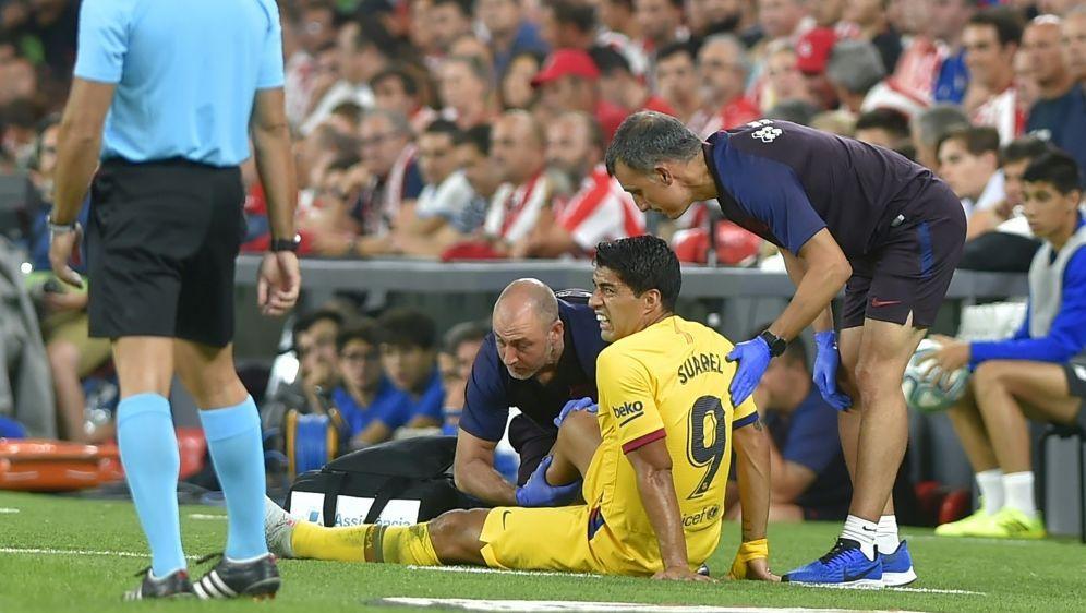 Luis Suarez fällt vorerst mit einer Wadenverletzung aus - Bildquelle: AFPSIDANDER GILLENEA