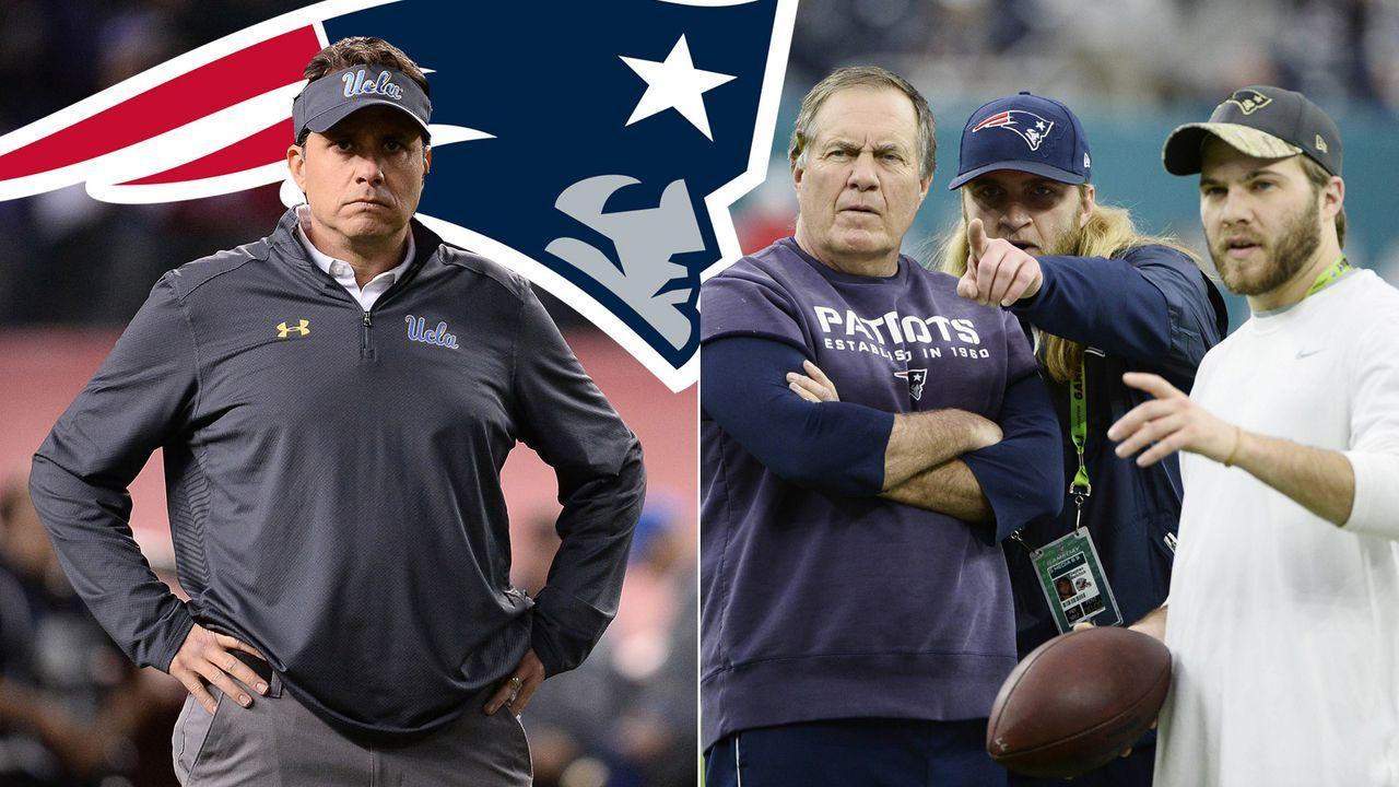 Das ist der Trainerstab der New England Patriots