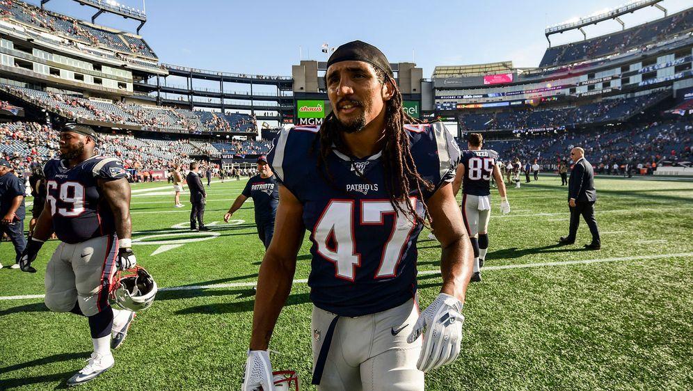 Erfolgreicher Arbeitstag: Jakob Johnson feierte mit den New England Patriots... - Bildquelle: Getty Images