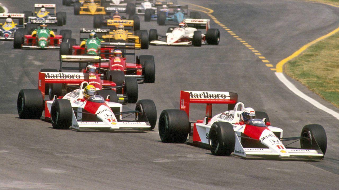 Alain Prost vs. Ayrton Senna - Bildquelle: imago sportfotodienst