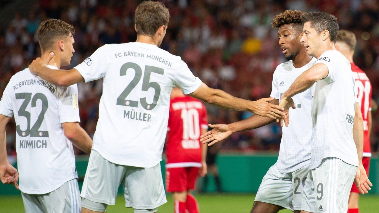 So schlugen sich die Stars des FC Bayern München bei Energie Cottbus - Bildquelle: imago