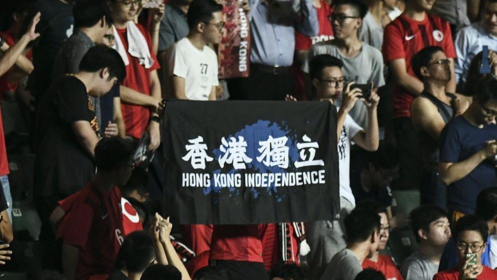 Hongkongs Fans protestierten beim Spiel gegen Taiwan - Bildquelle: AFPSIDANTHONY WALLACE