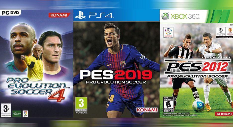 Alle PES-Cover: So präsentiert sich FIFA-Rivale Konami - Bildquelle: Konami