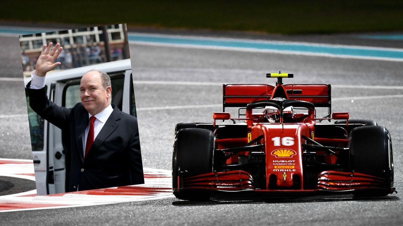 Kein Platz! Leclerc stellt Ferrari bei Fürst Albert unter - Bildquelle: Getty