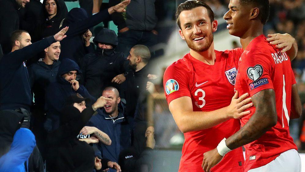 Nach Affenlauten gegen englische Spieler unterbricht der Schiedsrichter das ... - Bildquelle: 2019 Getty Images