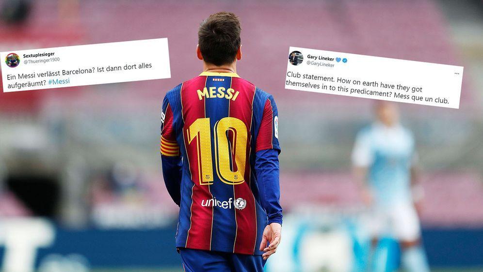 Lionel Messi verlässt den FC Barcelona und das Netz flippt aus. - Bildquelle: imago images/AFLOSPORT