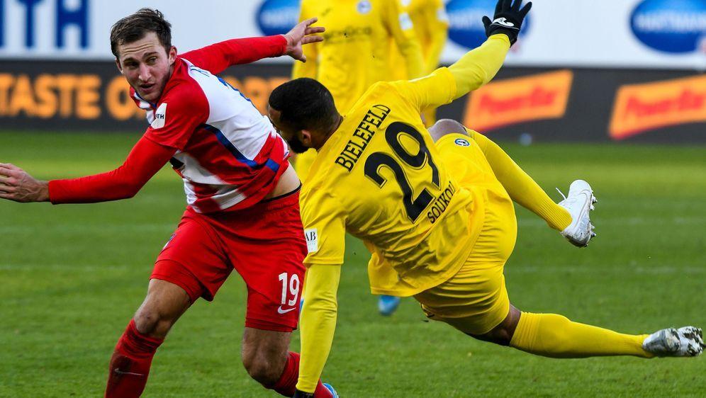 Bielefeld setzte die Serie ohne Niederlage fort - Bildquelle: Imago