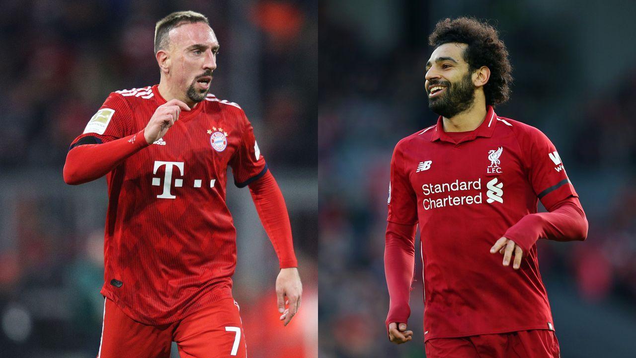 Franck Ribery vs. Mohamed Salah - Bildquelle: Getty Images