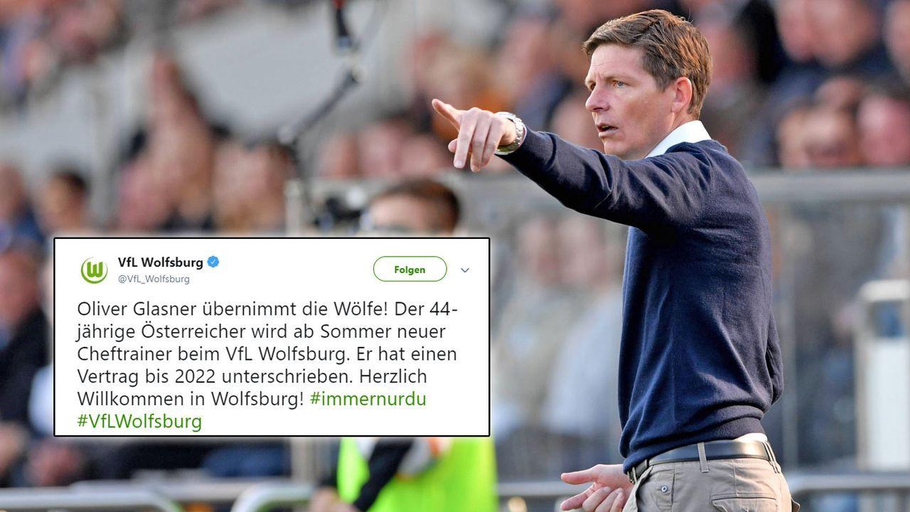 Neu: Oliver Glasner (VfL Wolfsburg) - Bildquelle: imago / twitter.com/vflwolfsburg