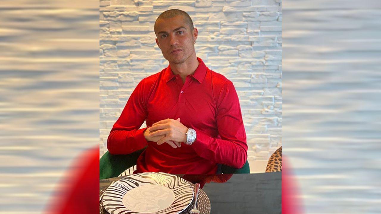Cristiano Ronaldo mit Glatze 2020 - Bildquelle: cristiano/instagram