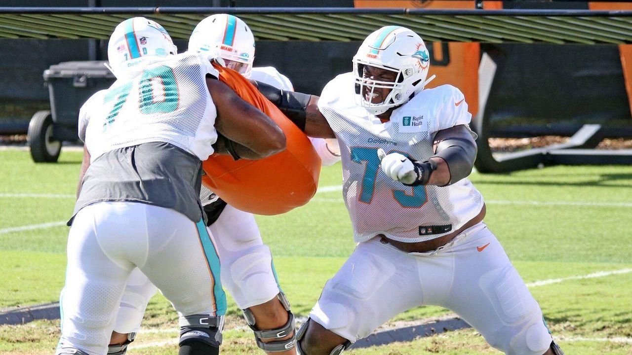 Austin Jackson (Offensive Tackle, Miami Dolphins) - Bildquelle: imago images/ZUMA Wire