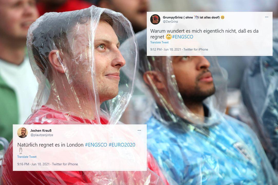 Regen muss sein bei einem britischen Derby - Bildquelle: imago images/PA Images