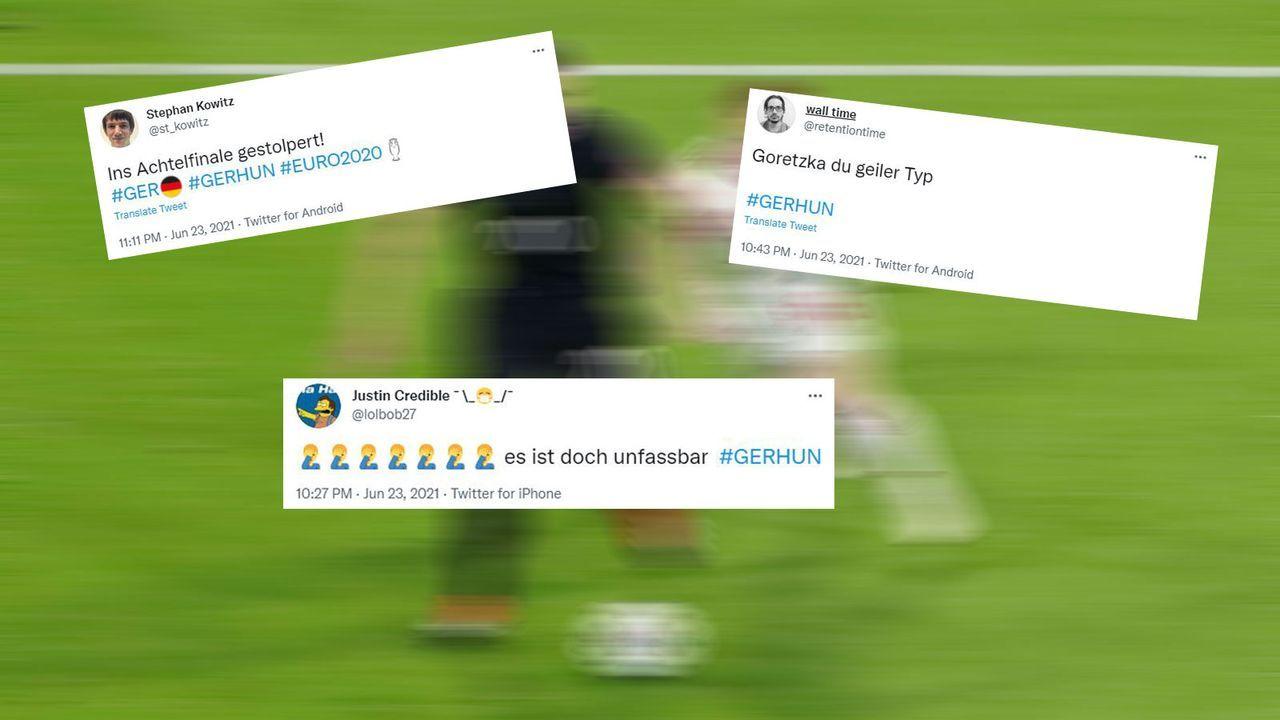 Netzreaktionen zu Deutschland gegen Ungarn - Bildquelle: Imago Images/twitter.com @st_kowitz/twitter.com @retentiontime/twitter.com @lolbob27