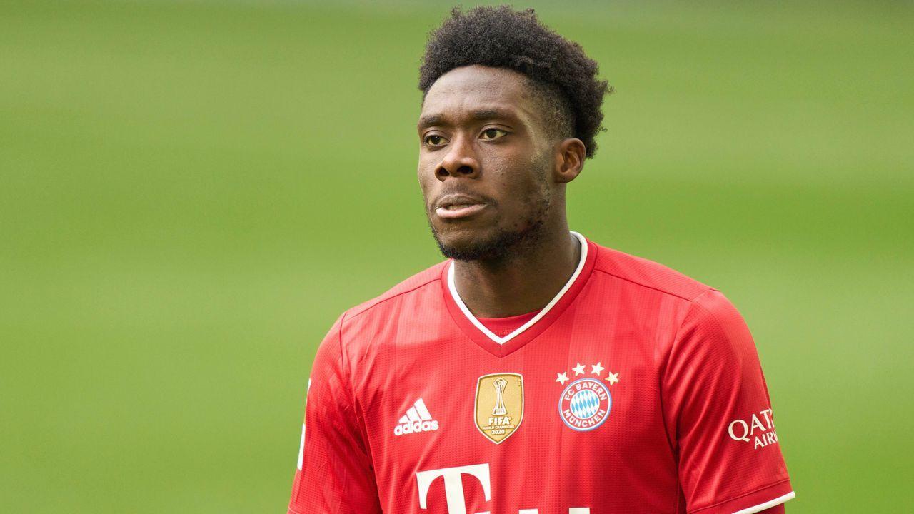 Platz 3 (geteilt): Alphonso Davies (FC Bayern München) - Bildquelle: Imago