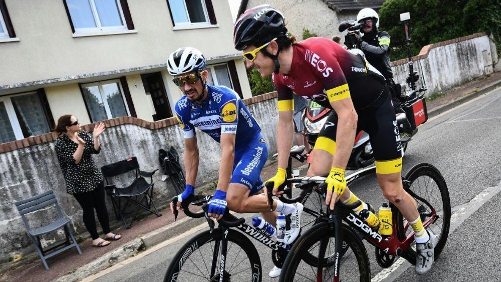 Deutschland-Tour: Alaphilippe und Thomas (v.l.) dabei - Bildquelle: AFPSIDANNE-CHRISTINE POUJOULAT