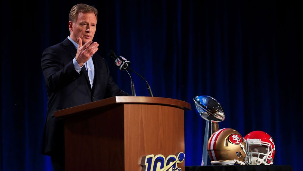 NFL-Commissioner Roger Goodell plant aktuell keinen Impf-Vorstoß. - Bildquelle: Getty Images