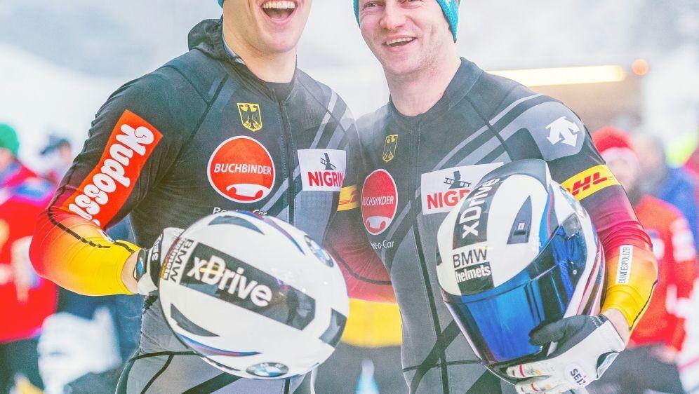 Margis (l.) und Friedrich gewinnen in Sigulda - Bildquelle: AFPSIDSTEFAN ADELSBERGER