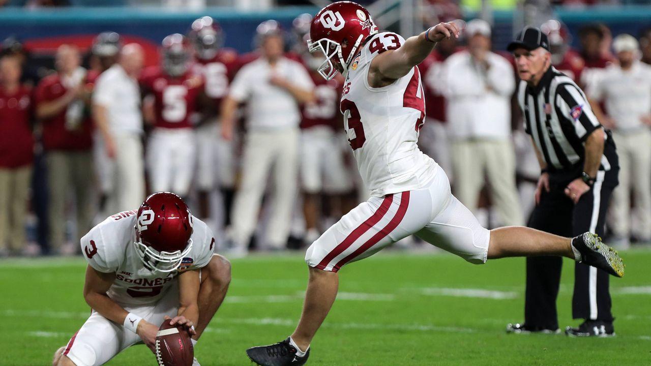 Kicker: Austin Seibert (Oklahoma) - Bildquelle: imago/ZUMA Press