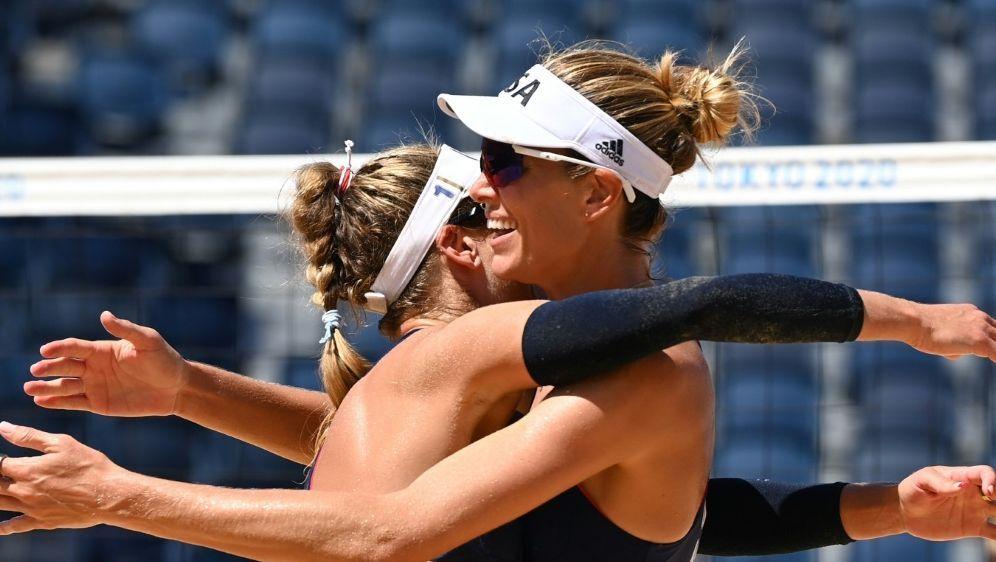 Klineman (r.) und Ross stehen im olympischen Finale - Bildquelle: AFPSIDMartin BERNETTI