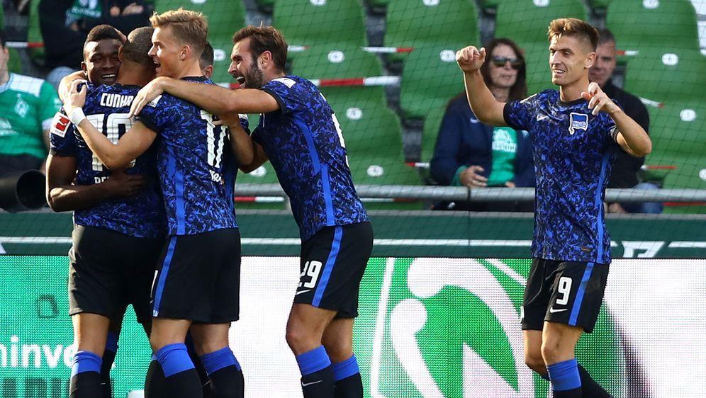 Dreier eingefahren: Hertha BSC setzt sich bei Werder Bremen souverän durch - Bildquelle: Getty Images
