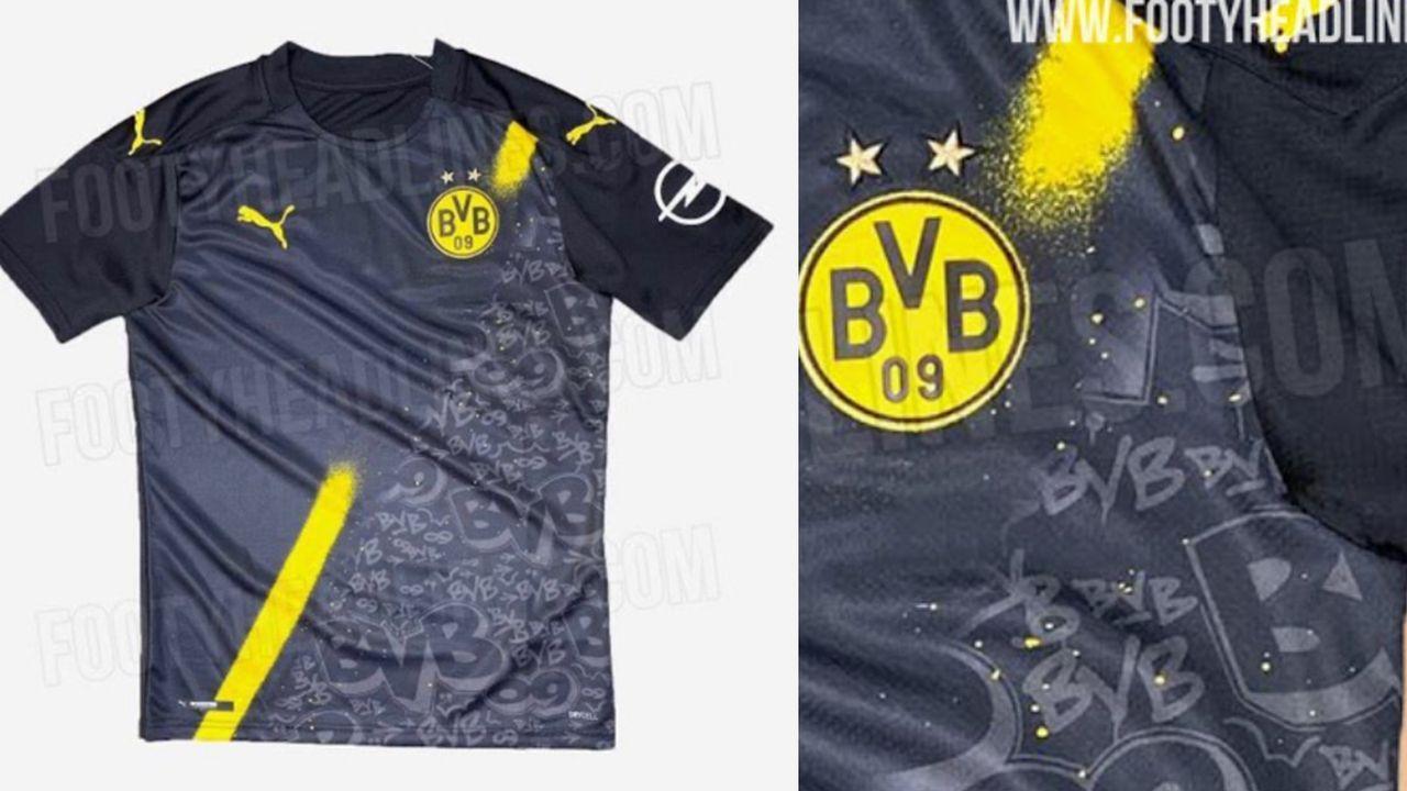 Borussia Dortmund (Auswärtstrikot) - Bildquelle: FootyHeadlines