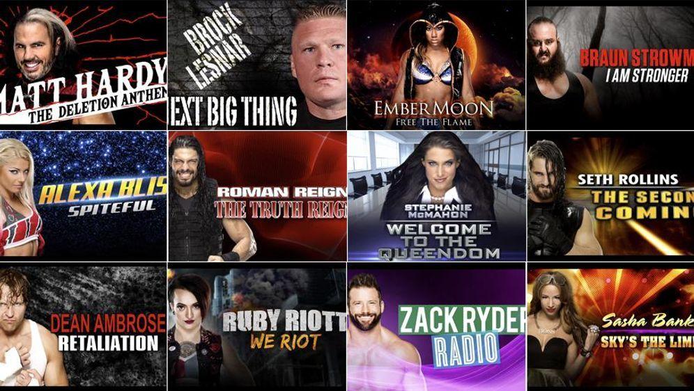 Die Entrance Themes der WWE-RAW-Superstars.