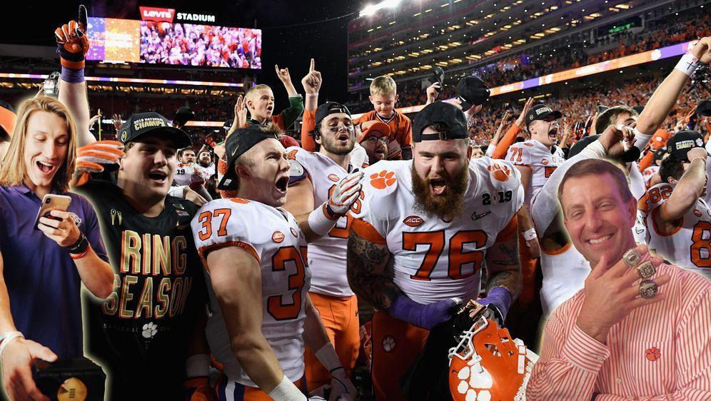 Champions des College: Die Clemson Tigers gewannen in der vergangenen Saison... - Bildquelle: Getty Images