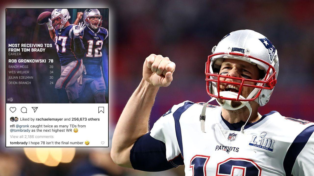 Tom Brady hofft auf Comeback von Rob Gronkowski - Bildquelle: Getty/twitter.com/NFL_DovKleiman
