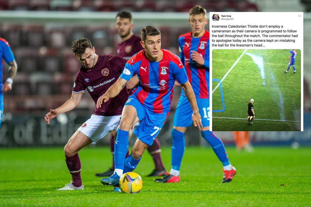 2. Schottische Liga: Kamera verwechselt Linienrichter mit Spielball - Bildquelle: imago images/Pro Sports Images