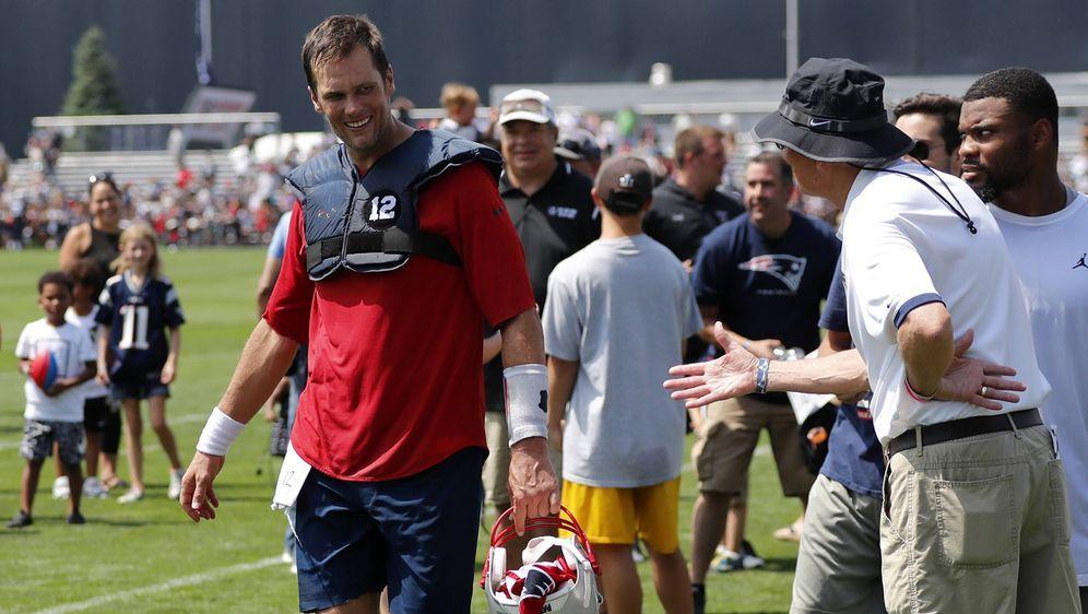 Wieder im Training: Tom Brady. - Bildquelle: imago/Icon SMI