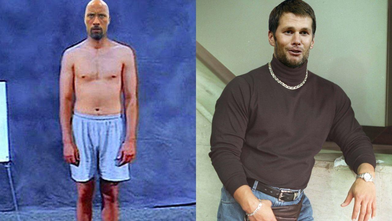 """Tom Brady und """"The Rock"""" ziehen sich auf Twitter auf - Bildquelle: https://twitter.com/TomBrady/https://twitter.com/TheRock"""