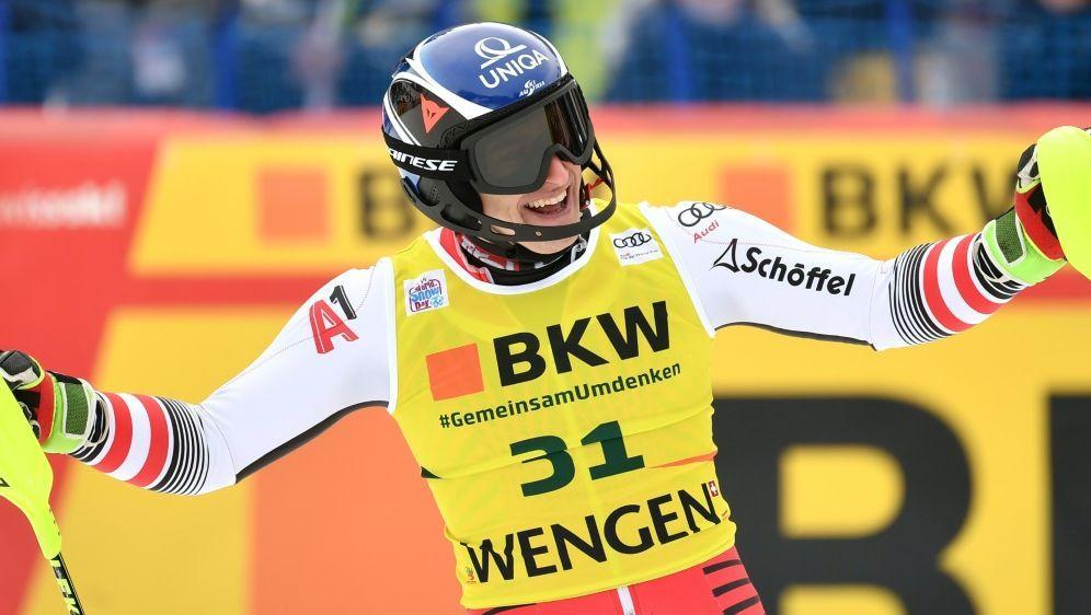 Matthias Mayer gewinnt die alpine Kombination in Wengen - Bildquelle: AFPSIDFABRICE COFFRINI