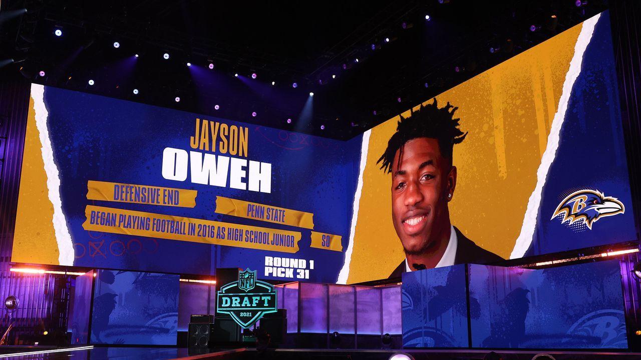 31. Pick - Jayson Oweh (Defensive End, Baltimore Ravens) - Bildquelle: 2021 Getty Images