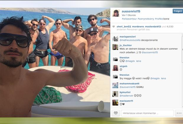 Mats Hummels - Bildquelle: instagram.com/aussenrist15/