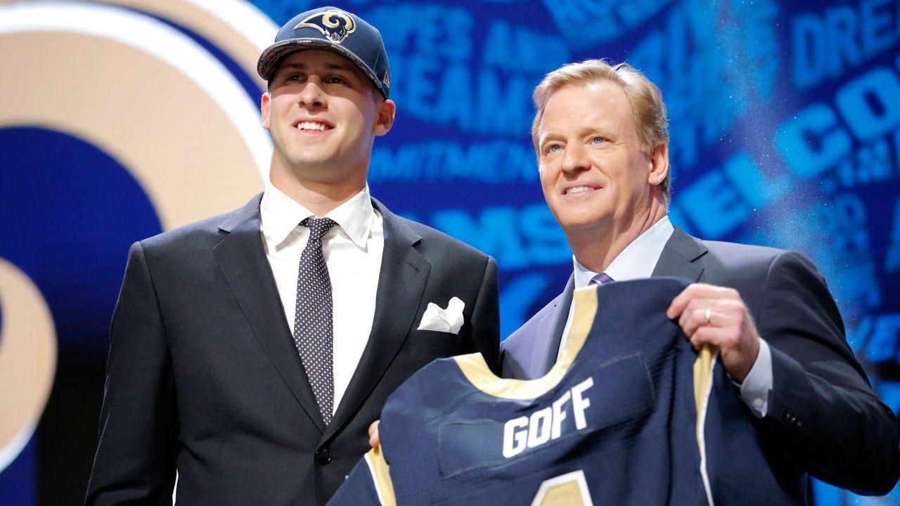 Jared Goff (1. Pick im Draft 2016, Los Angeles Rams) - Bildquelle: 2016 Getty Images
