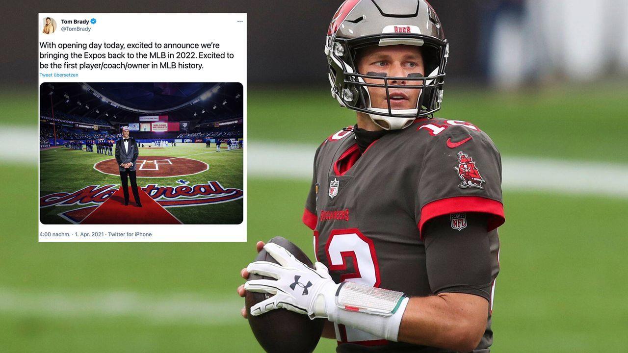 Netter Scherz: Tom Brady bringt die Montreal Expos zurück - Bildquelle: imago images/ZUMA Wire