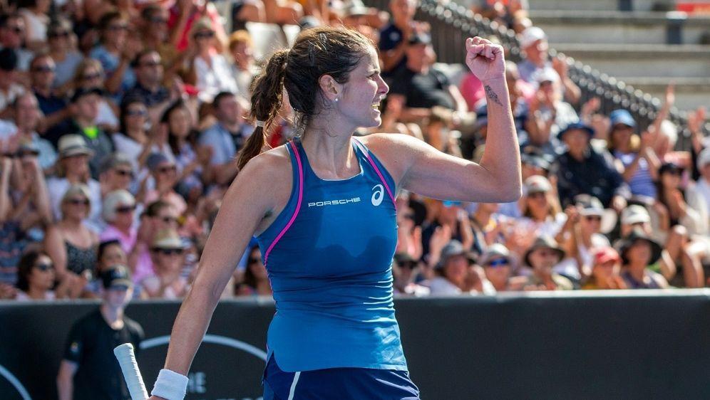 In Auckland im Halbfinale: Julia Görges - Bildquelle: AFPAFPDAVID ROWLAND