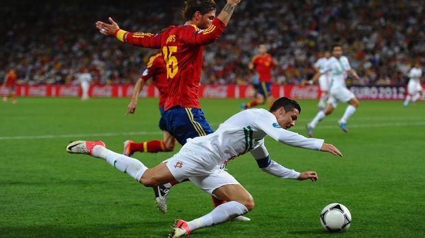 Cristiano Ronaldo gegen Spanien - Bildquelle: 2012 Getty Images