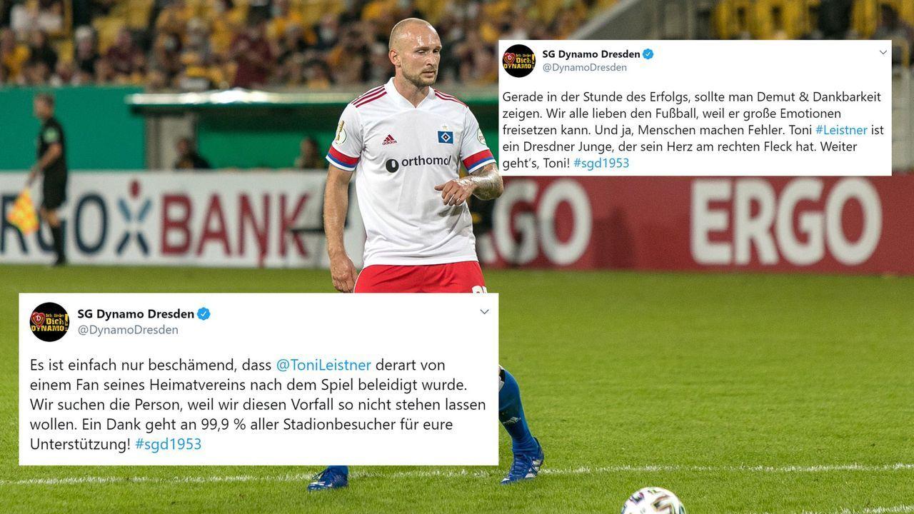 Dynamo Dresden nimmt Leistner in Schutz und verspricht Konsequenzen - Bildquelle: twitter.com/DynamoDresden