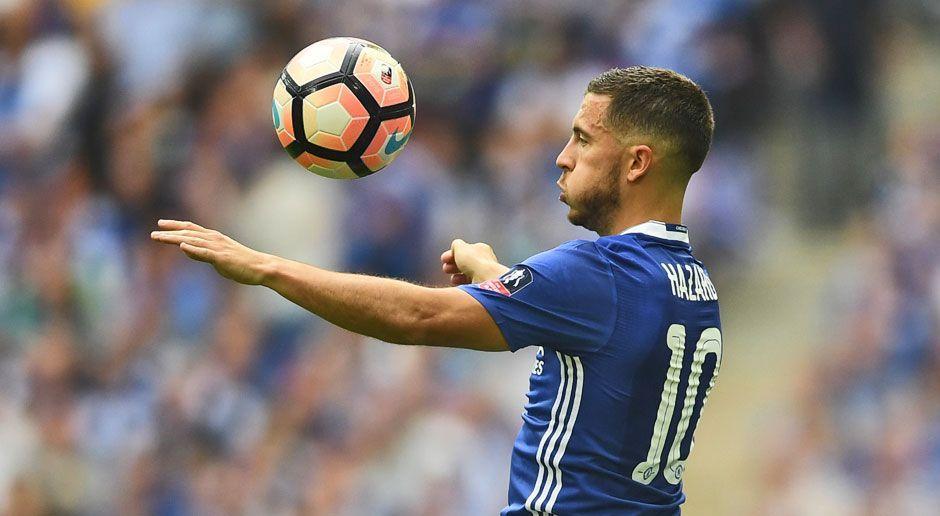 Platz 9: Eden Hazard - Bildquelle: 2017 Getty Images