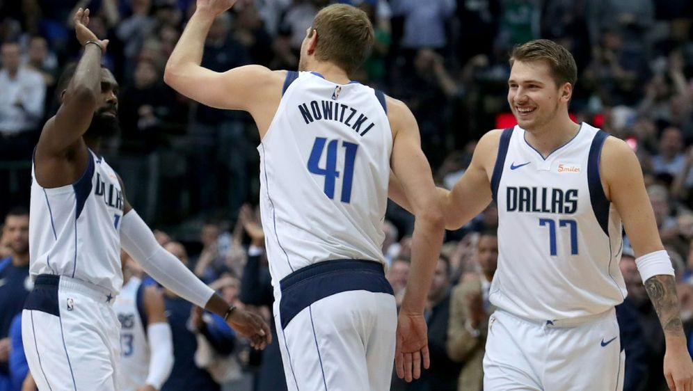 Nowitzki und Co. bezwingen die Warriors - Bildquelle: AFPGETTY SID
