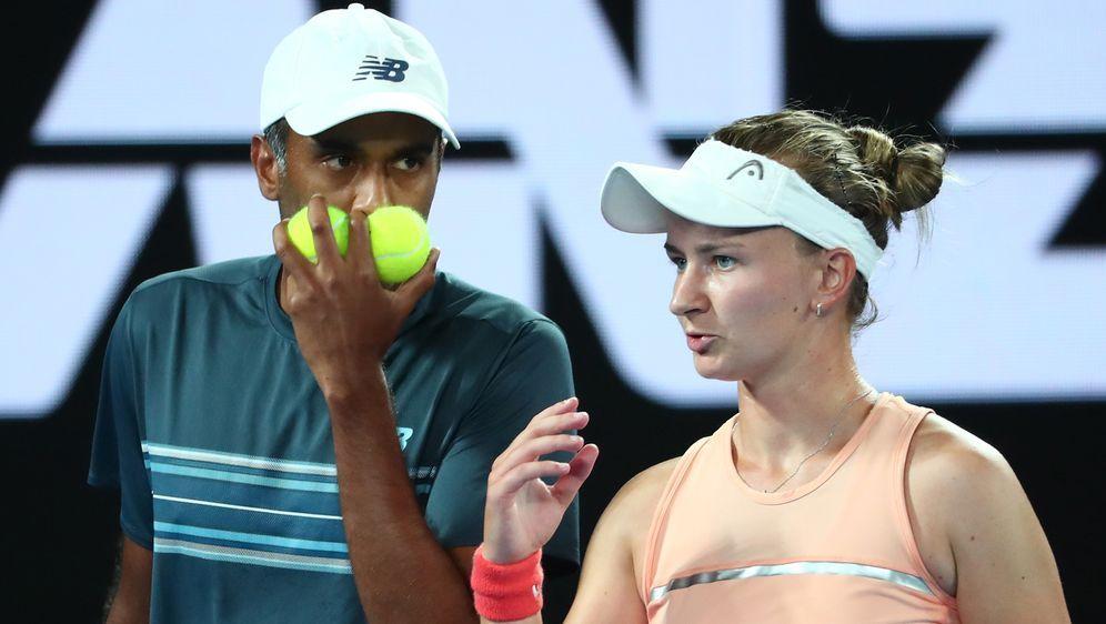 Krejcikova (re.) und Ram (li.) gewinnen Mixed-Titel in Australien - Bildquelle: Getty Images