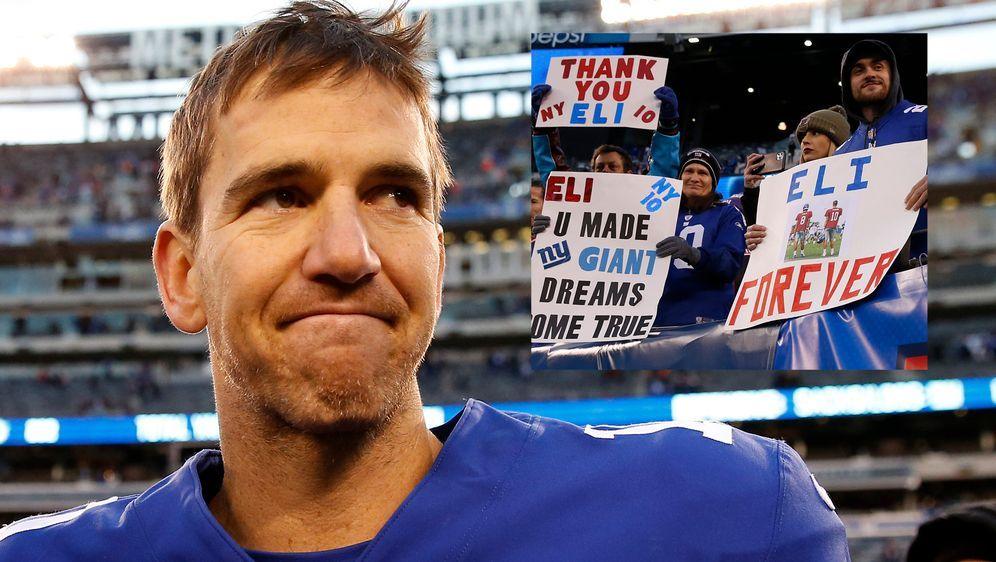 Eli Manning wurde gefeiert. - Bildquelle: 2019 Getty Images